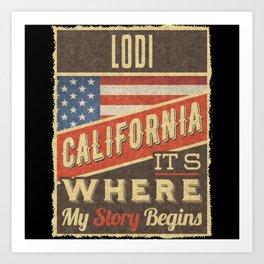 Lodi California Art Print