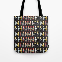 Bowie pixel characters Tote Bag