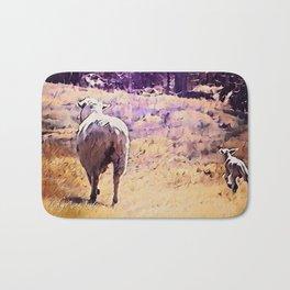 Lamb Frolic with Mama Ewe by CheyAnne Sexton Bath Mat