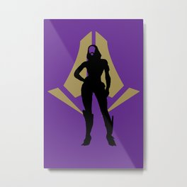 Tali'Zorah vas Normandy Metal Print