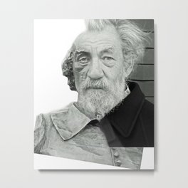 Playwright Actor Headshot Metal Print