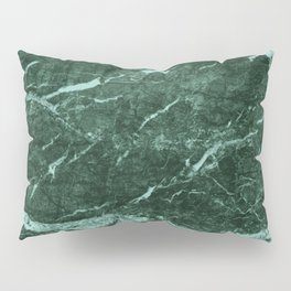 Dark Green Marble texture Pillow Sham