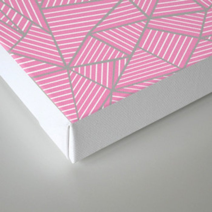 Ab Out Double Pink and Grey Canvas Print