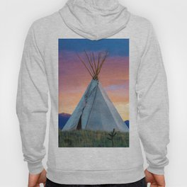 Dual Teepees With Southwest Sunset Hoody