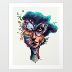Searching Deep Blue Art Print
