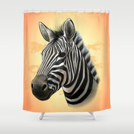 African Zebra Shower Curtain