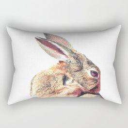 Rabbit Portrait Rectangular Pillow