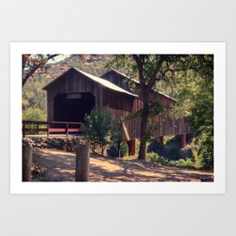 Honey Run Covered Bridge Farewell Art Print