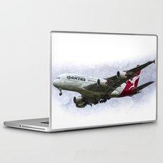 Qantas Airbus A380 art Laptop & iPad Skin