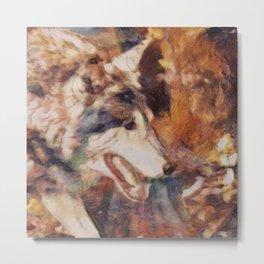 painted dirty -wolf Metal Print