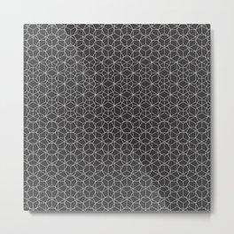 Tessellation - Culture Clash - Monotone Grey Metal Print