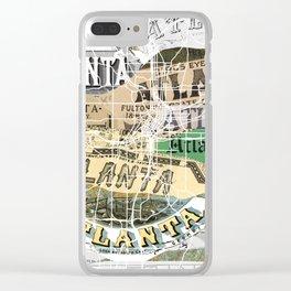 Atlanta map Clear iPhone Case