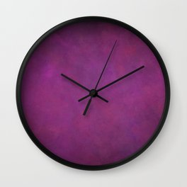 Abstract Soft Watercolor Gradient Ombre Blend 11 Purple Fuchsia Wall Clock