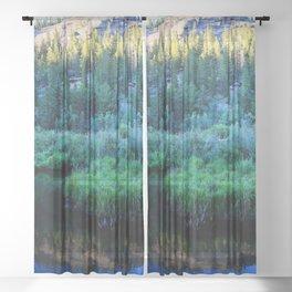 Watercolor Landscape, Lost Creek Wilderness 34, Colorado Sheer Curtain