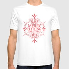 Merry Effin Christmas White Mens Fitted Tee MEDIUM