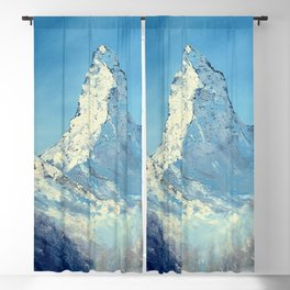 Matterhorn, Mont Cervin - original mountain landscape oil painting Blackout Curtain