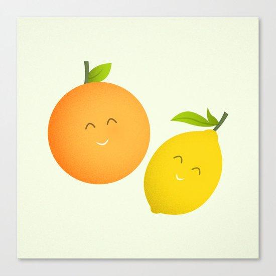 Happy Orange and Lemon Canvas Print