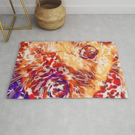Socca The Cat Expressionism Impressionism  Pop Art Rug