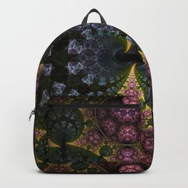 Fractal Abstract with orbs and tribal patterns Backpack