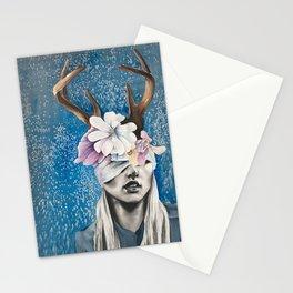 Rustic Deer Antler Art Stationery Cards