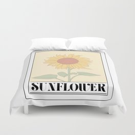 the sunflower tarot card Duvet Cover