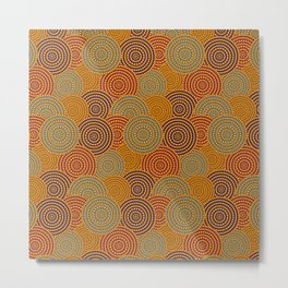 Desert Circles - Burnt Orange Metal Print