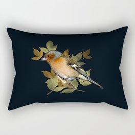 male chaffinch on black, vintage style Rectangular Pillow