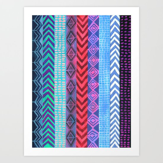 PATTERN {Peru Stripe} Art Print
