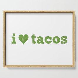 I Love Tacos Serving Tray