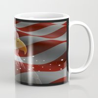 patriots Mugs featuring Patriotic America by Barrier Style & Design
