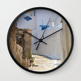 The Greek Village Milos 2 Wall Clock
