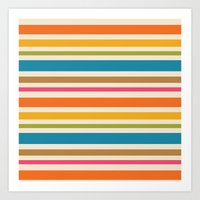 stripe Art Prints featuring stripe by bobbybard