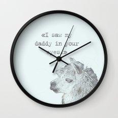 Daddy Lama Wall Clock