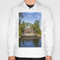 michigan Hoodies featuring Michigan Cottage by davehare