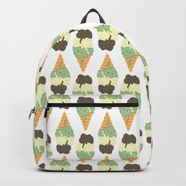 Mint-Vanilla-Chocolate Ice Cream Sundae Backpack