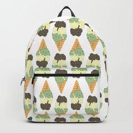Mint-Vanilla-Chocolate Ice Cream Sundae Backpack