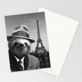Sloth in Paris Stationery Cards