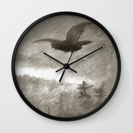 Stealth And Surprise Of The Night Owl Wall Clock