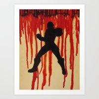 power ranger Art Prints featuring Red Power Ranger by Oksana's Art