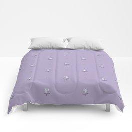 Ladybug and Little Flower in Violet Comforters