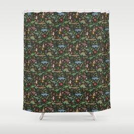 Dinosaur Jungle Shower Curtain