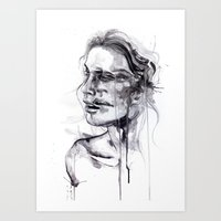 butterfly Art Prints featuring Tremore by agnes-cecile
