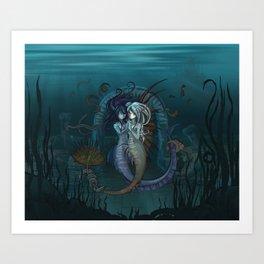 Fantasy style Anime / Manga mermaids Art Print