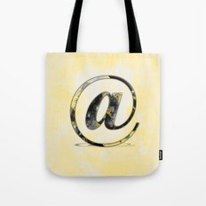 At Sign {@} Series - Baskerville Typeface Tote Bag