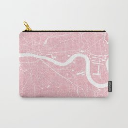 London, UK, City Map - Pink Carry-All Pouch