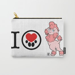 I Heart furBags - Poodle Carry-All Pouch