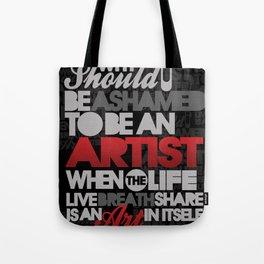 I am Artist (Black) Tote Bag