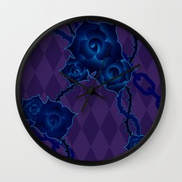 Thorny Rose Vines with Chains Wall Clock
