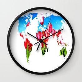 World of Tulips Wall Clock