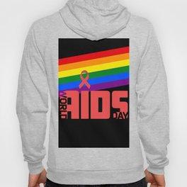 AIDS World Day, HIV AIDS LGBT GAY PRIDE RAINBOW FLAG  Hoody